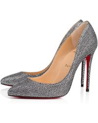 Christian Louboutin - Pigalle Follies Glitter Diams 100 Antic Silver Glitter - Lyst