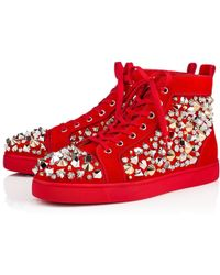 ab901c43adc Lyst - Christian Louboutin Louis Mens Flat in Red for Men