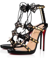 b16f86ed5a2c Lyst - Christian Louboutin Amazoulo Lace-Up Suede Gladiator Sandals ...