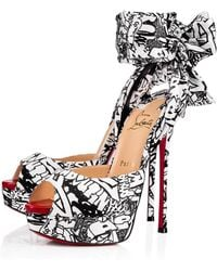 4a5cff04fd0 Lyst - Christian Louboutin Mega Vamp Python Lace-up Red Sole Pump in ...