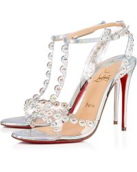 c0ae9404553c Lyst - Christian Louboutin Galleria 100mm Suede Red Sole Sandal