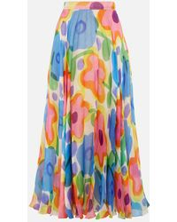 Christopher Kane - Cartoon Flower Pleated Skirt - Lyst