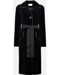 Christopher Kane - Dot Dash Velvet Coat - Lyst