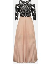 Christopher Kane - Lace Crotch Pleated Dress - Lyst