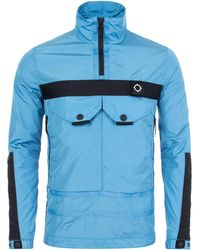 Ma.strum - Serpens Blue Overhead Jacket - Lyst