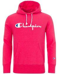 Champion Script Logo Reverse Weave Fleece Lined Hoodie