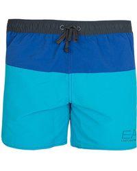 Armani - Ea7 Swim Shorts Blue - Lyst