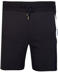 Moncler - Gamme Bleu Angled Stripe Jersey Shorts Navy - Lyst