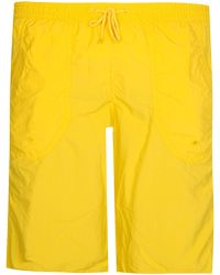 Armani - Emporio Logo Swim Shorts Yellow - Lyst