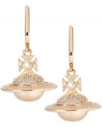 Vivienne Westwood - Darius Orb Earrings Yellow Gold - Lyst