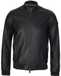 Armani Jeans Leather Look Jacket Black