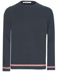 Givenchy - Star Tape Hem Wool Knit - Lyst