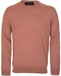Paul Smith - Contrast Trim Knitted Jumper - Lyst