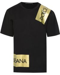 Dolce & Gabbana - Logo Tape T-shirt - Lyst