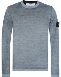 Stone Island - Fast Dye + Air Brush Knitted Jumper - Lyst