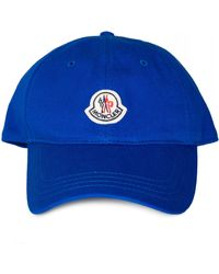 39545d2ab55f Moncler Classic Baseball Cap in Blue for Men - Lyst