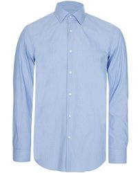 BOSS - Hugo Jenno Slim Fit Shirt Blue - Lyst