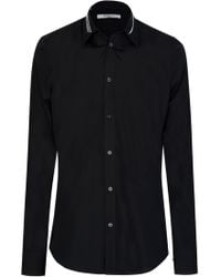 Givenchy - Paris Embroidered Collar Shirt - Lyst