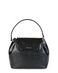 Armani - Emporio Womens Mock Crock Shoulder Bag - Lyst