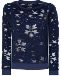 Armani - Jeans Womens Mesh Jumper - Lyst