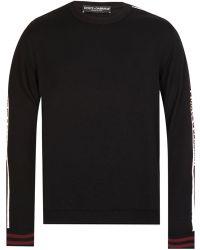 Dolce & Gabbana - Tape Logo Knitted Jumper - Lyst