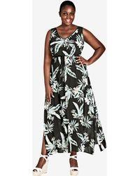 City Chic - Oahu Tie Maxi Dress - Lyst