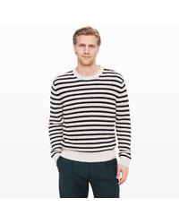 Club Monaco - Striped Cotton Crew - Lyst