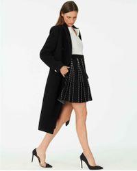 4e1fd91c13 Club Monaco Lyn Faux-Leather Skirt in Black - Lyst