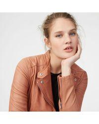 Club Monaco - Rowlen Leather Jacket - Lyst