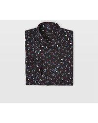 Club Monaco - Slim-fit Printed Cotton-poplin Shirt - Lyst