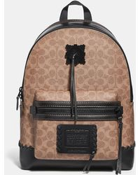COACH - Academy Backpack In Signature Canvas With Whipstitch - Lyst