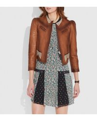 COACH - Crystal Embellished Tailored Jacket - Lyst