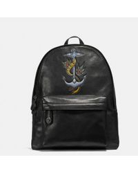 COACH - Campus Backpack With Tattoo Tooling - Lyst