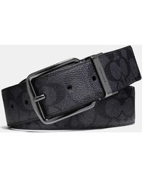 0984353d60a4 COACH - Wide Harness Cut-to-size Reversible Belt In Signature Canvas - Lyst