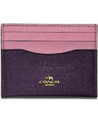 COACH - Card Case In Colorblock Leather - Lyst
