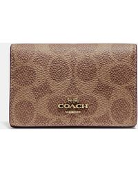 Coach Bleecker Accordion Business Card Case In Colorblock Leather In