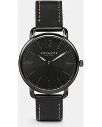 COACH - Delancey Slim Leather Strap Watch - Lyst
