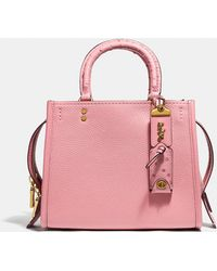 472d75235 COACH Rogue In Pebble Leather With Tea Rose - Save 50% - Lyst