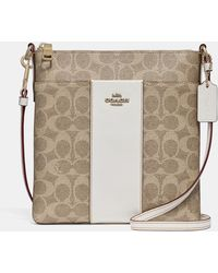 COACH - Kitt Messenger Crossbody In Colorblock Signature Canvas - Lyst