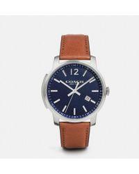 COACH - Bleecker Slim Stainless Steel Strap Watch - Lyst