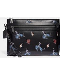 COACH - Academy Pouch With Rodeo Print - Lyst