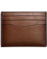 COACH - Card Case In Sport Calf Leather - Lyst