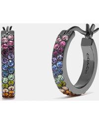COACH - Huggie Hoop Earrings - Lyst