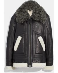 COACH - Oversized Shearling Aviator - Lyst