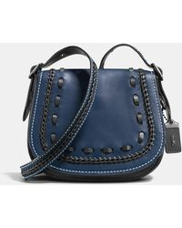 COACH | Saddle 23 In Glovetanned Leather With Western Whiplash Detail | Lyst