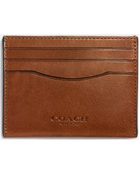 a71a82a33dff Lyst - COACH Double Billfold Wallet In Water Buffalo Leather in Blue ...
