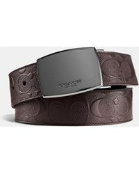 COACH - Classic Plaque Cut-to-size Reversible Belt In Signature Leather - Lyst