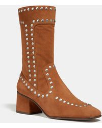 COACH - Bootie With Rivets - Lyst