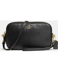 COACH - Crossbody Clutch In Polished Pebble Leather - Lyst