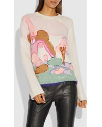 COACH - Spooky Cottage Oversized Sweater - Lyst